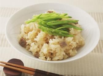 麦味噌の牛肉炊き込みご飯