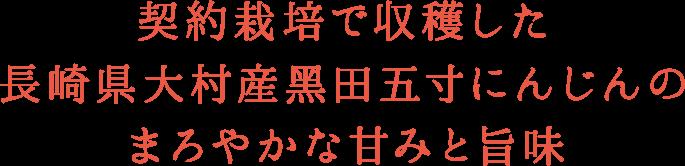 h3 契約栽培で収穫した ⻑崎県大村産黑田五寸にんじんの まろやかな甘みと旨味