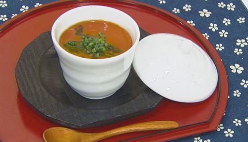 チョーコーレシピ更新しました/桜鯛とたけのこの茶碗蒸しかけぽんあん