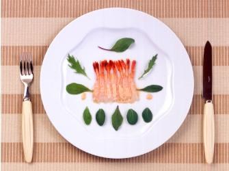 甘海老のカルパッチョミラクルソース