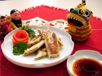 中華風葱焼きパン