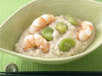 海老と空豆のカンタン白和え