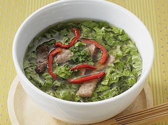 牛肉のサラダスープ