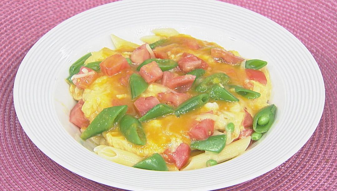 トロッとたまごと春野菜のパスタサラダ