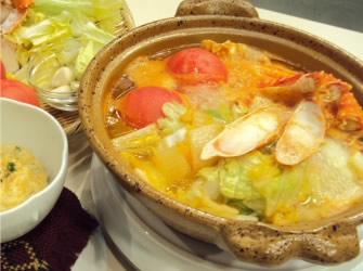 カニ風味トマト鍋