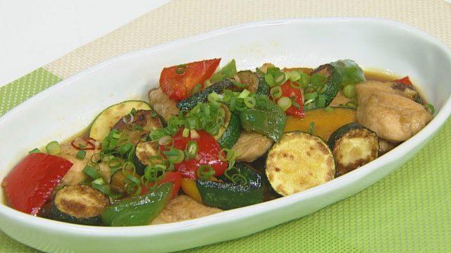 チョーコーレシピ更新しました/夏野菜のおかず焼き浸し