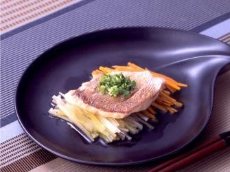 レンジde京風蒸し魚