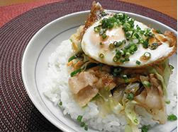 スタミナ肉野菜丼