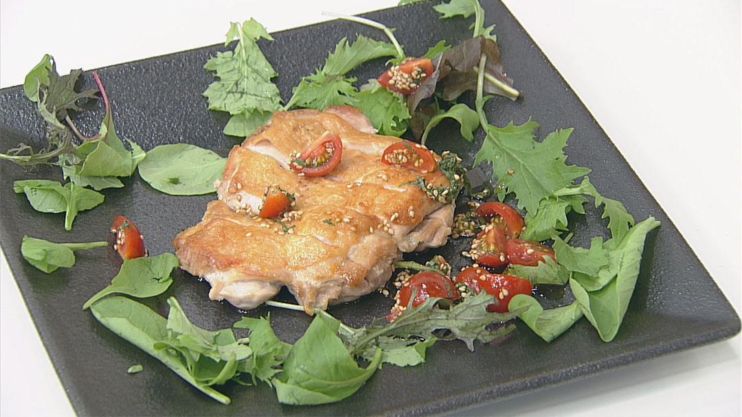 パリパリチキン トマトガーリックぽん酢
