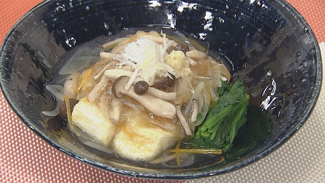 野菜たっぷりあんかけ揚げだし豆腐