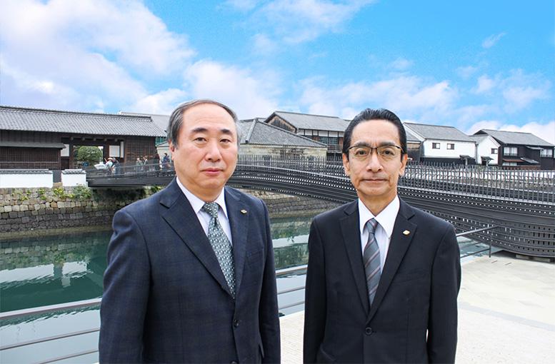 長工醤油味噌協同組合理事長 久保田泰雄・チョーコー醤油株式会社代表取締役 北野正大