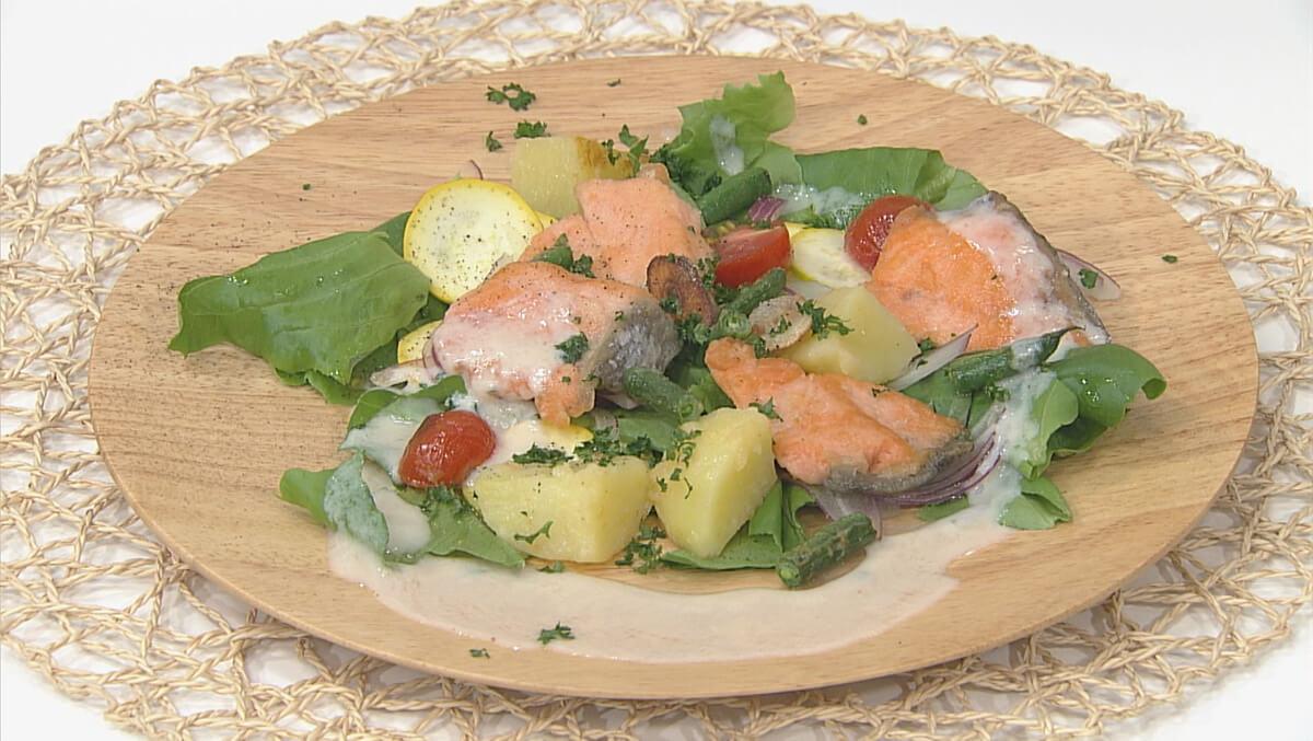 長崎南蛮酢のホットサーモンサラダ